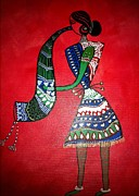 Warli Paintings - Musicsian by Smita Sumant