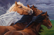 Saddle Paintings - Mutual Support by Michelle Grant