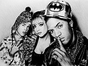 Singers Drawings Prints - N Dubz Print by Andrew Read