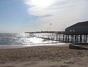 Calm Art - Nags Head Pier 2 by Cathy Lindsey