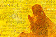Praying Hands Digital Art Prints - Namaste  Print by Tim Gainey