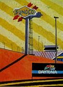 Nascar Paintings - Nascar Sunoco by Lesley Giles