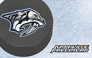 Puck Prints - Nashville Predators Print by Joe Hamilton