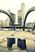 Nathan Phillips Square Print by Valentino Visentini