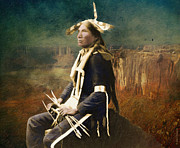 Fine American Art Digital Art Posters - Native Honor Poster by Lianne Schneider