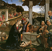Shepherds Posters - Nativity Poster by Domenico Ghirlandaio