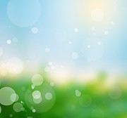 Warm Summer Posters - Nature blur summer background.  Poster by Michal Bednarek
