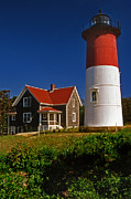Nauset Beach Framed Prints - Nauset Beach Lighthouse Framed Print by Skip Willits