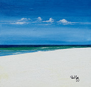 Shores Paintings - Navarre Beach by Paul Gaj