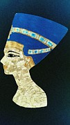 Egypt Tapestries - Textiles - Nefertiti by Hayley Jeenes