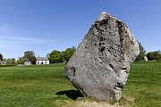 Standing Stones Prints - Neolithic standing stone at Avebury in Wiltshire England Print by Robert Preston