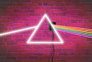 Band Digital Art Prints - Neon Floyd 2 Print by Cristopher