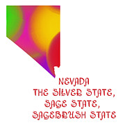 Nevada Digital Art - Nevada State Map Collection 2 by Andee Photography