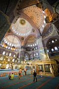 Believer Framed Prints - New Mosque Interior in Istanbul Framed Print by Artur Bogacki