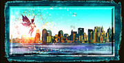 Nyc Digital Art Originals - New York City by Daniel Janda