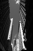 View Framed Prints Posters - New York City Downtown Poster by Frank Romeo