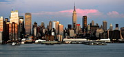 New York City Skyline Photos - New York City Skyline at Dusk by Kathy Flood