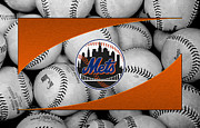Baseball Bat Posters - New York Mets Poster by Joe Hamilton