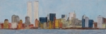 Skylines Pastels Posters - New York Skyline Poster by Jacob Stempky