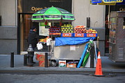 Green Grocer Prints - New York Street Vendor Print by Frank Romeo
