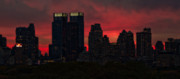 New York City Photos - New York Sunset Skyline by Ariane Moshayedi