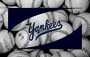 Players Metal Prints - New York Yankees Metal Print by Joe Hamilton