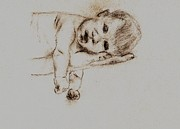 Daddy Drawings Posters - NewBorn Bliss Poster by Shaunna Juuti
