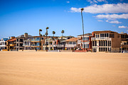 Southern Homes Prints - Newport Beach Oceanfront Homes in Orange County California Print by Paul Velgos