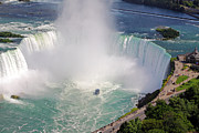 Tourists Attraction Prints - Niagara Falls Summer Print by Charline Xia