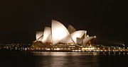 Opera House Framed Prints - Night at the Opera Framed Print by Ellen Henneke