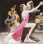 Tango Paintings - Night Rhythms by Judy Kay
