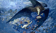 Famous Artists - Night with her Train of Stars by Edward Robert Hughes