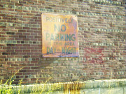 Red Bricks Prints - No Parking Print by Marsha Charlebois