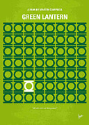 Icon Metal Prints - No120 My GREEN LANTERN minimal movie poster Metal Print by Chungkong Art