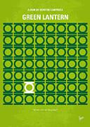 No120 My Green Lantern Minimal Movie Poster Print by Chungkong Art