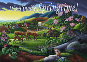 Tennessee Farm Originals - no20 Its Finally Springtime by Walt Curlee