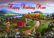 Ohio Paintings - no7 Happy Birthday Mom by Walt Curlee