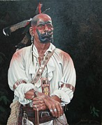 18th Century Painting Originals - Noble Savage by Richard Luce