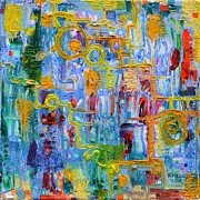 Regina Valluzzi Painting Metal Prints - Nonlinear Metal Print by Regina Valluzzi