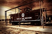 Norfolk And Western Railroad Prints - Norfolk and Western Caboose Print by Steven Faucette