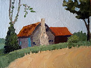 Vernacular Architecture Painting Posters - North Carolina Vernacular Poster by Susan Woodward