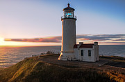 Lighthouse Sunset Photos - North Head Lighthouse  by Robert Bales