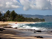 Laniakea Beach Prints - North Shore Print by Christine Stack