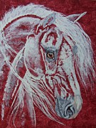 Wild Horse Drawings - Northern breeze by Lucka SR