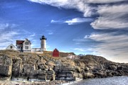Nubble Lighthouse Posters - Nubble Light Poster by James Weyand