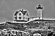 Nubble Lighthouse Framed Prints - Nubble Lighthouse Cape Neddick Maine Framed Print by Glenn Gordon