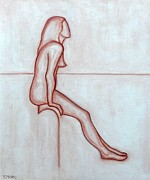 Colour Drawings - Nude 2 by Patrick J Murphy
