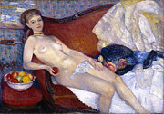 Famous Artists - Nude with Apple by William Glackens