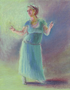 Dancing Girl Pastels Posters - Number Thirty-six Poster by Marie Marfia
