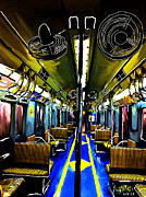 Nyc Digital Art Originals - #1 NYC 1930 New York Subway Train by Gylliayn Art